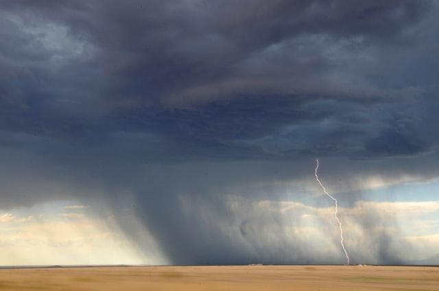 Gewitterradar Blitzeinschlag