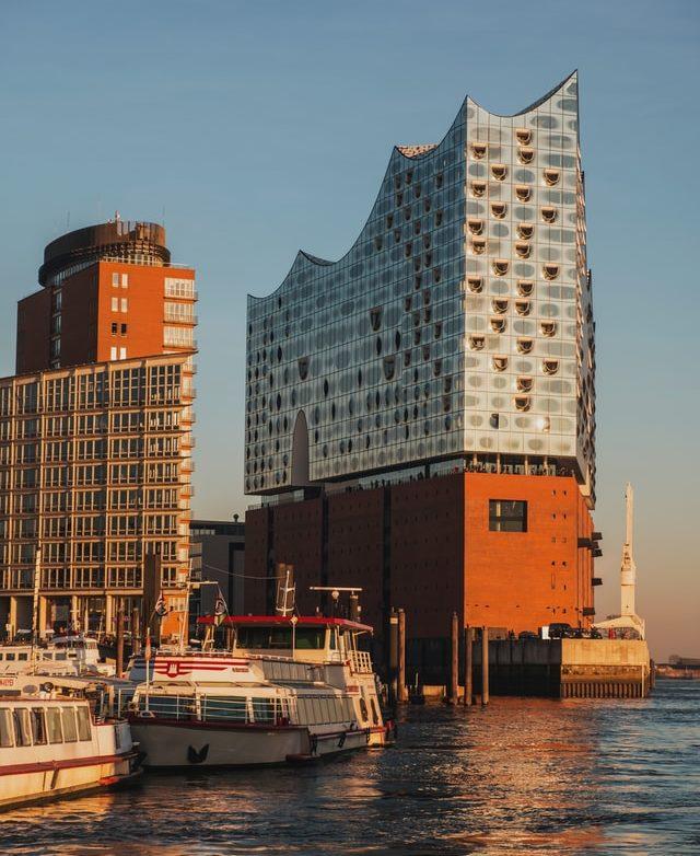 Wetterradar Hamburg mit Elbphilharmonie