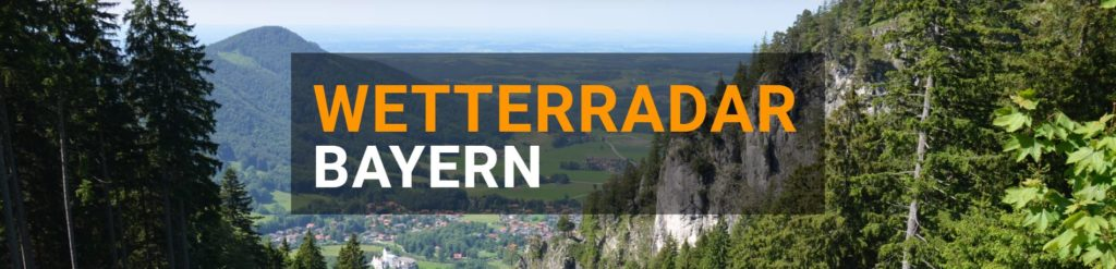 Wetterradar Bayern groß