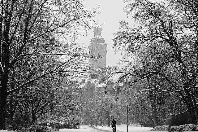 Leipzig bei Winter