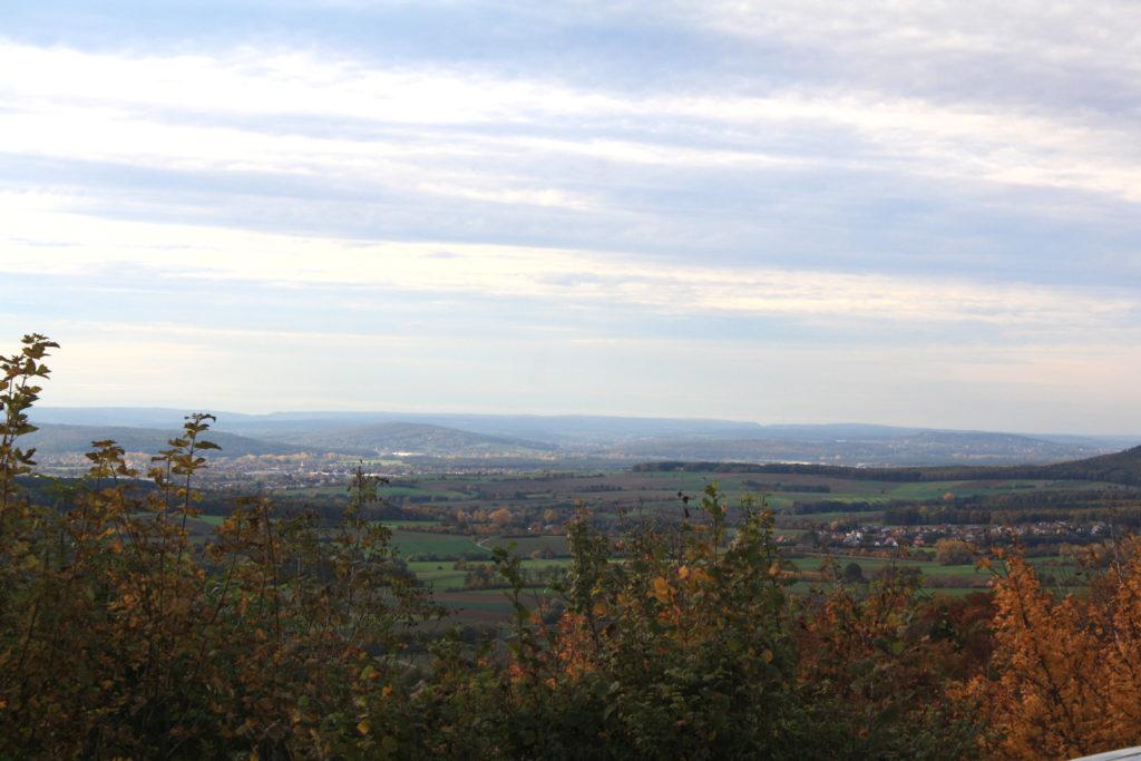 Der Ausblick vom Flugplatz aus in Richtung Westen.