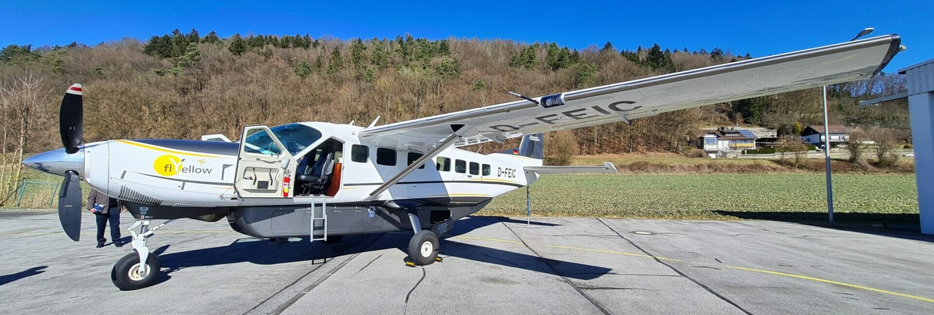 Die Cessna 208 Grand Caravan ist einsteigebereit.